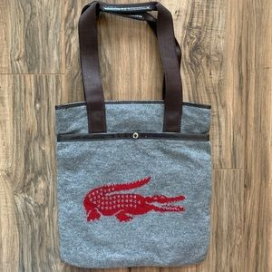 Lacoste Knit tote bag
